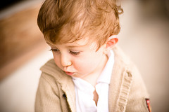 Little boy thinking